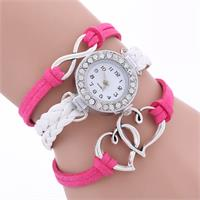 Infinite Hearts Pink & White Watch