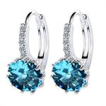 Gorgeous Luxury Earrings With Blue Swarovski Elements