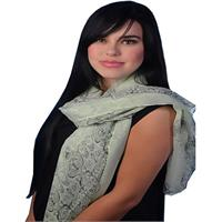 Light Weight Trendy Floral Scarf - Mint Green