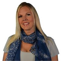 Light Weight Trendy Floral Scarf - Navy Blue