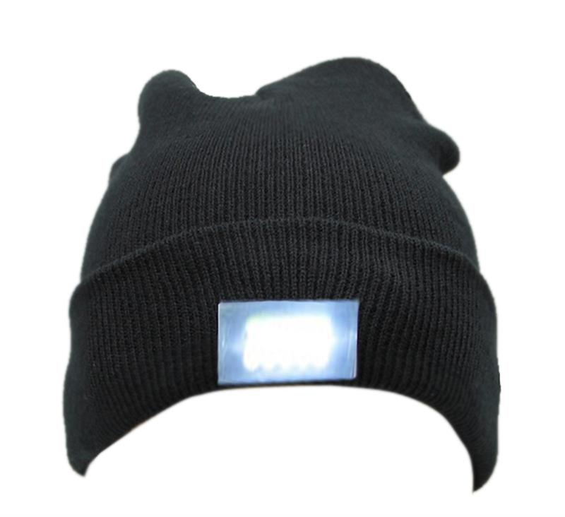 5-LED Light W// 2 Batteries Cap Beanie Hat for Hunting Camping Running Fishing