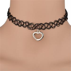 Choker With Charm - Heart