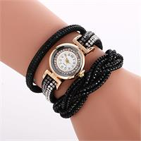 Radiant Crystal Watch - Black