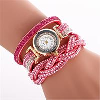 Radiant Crystal Watch - Red Rose