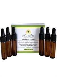 COMPLETE Skin Solutions Vitamin C + E Serum With Ferulic & Hyaluronic Acid 6 Travel Sizes