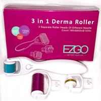 3 In 1 Derma Roller Set 0.5mm, 1.0mm, 1.5mm Micro Needles