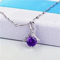 Amethyst Crystal Pendant With Stunning Zircon Crystal
