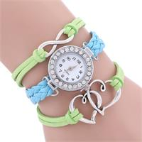 Infinite Hearts Blue & Green Watch