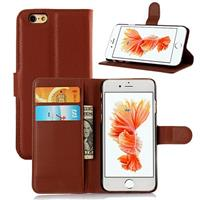 iPhone 6 And 6 Plus Wallet Case With Flip Stand Brown