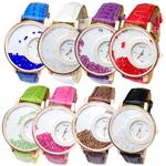 Trendy Fashion Watch With Moving Crystals Comes In 8 Different Colors