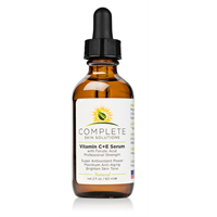 COMPLETE Skin Solutions Vitamin C + E Serum With Ferulic & Hyaluronic Acid (2 oz) PRO SIZE