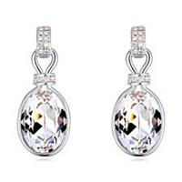 Classy Swarovski Crystal Clear Expression Earrings