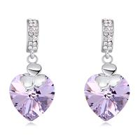 Brilliant Swarovski Crystal Amethyst Ice Sparkling Earrings