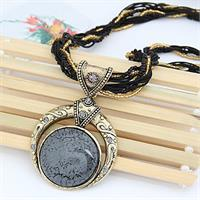 Bohemian Necklace Blac/Gray