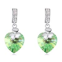 Brilliant Swarovski Crystal Green Ice Sparkling Earrings