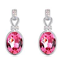 Classy Swarovski Crystal Sweet Pink Expression Earrings
