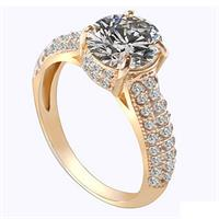 Timeless Stunning Gold Zircon Ring