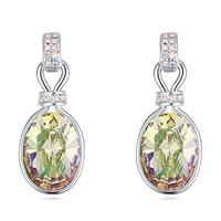Classy Swarovski Crystal Light Honey Expression Earrings
