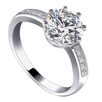 Timeless Solitaire Crystal Ring