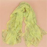 Light Weight Trendy Floral Scarf - Mellow Yellow