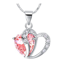 Hearts of Fire Pink Crystal Zircon Necklace