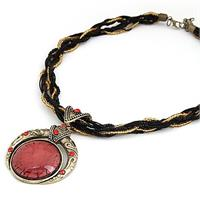 Bohemian Necklace Red
