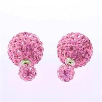 Double Sided Shamballa Crystal Earrings Comes in 5 Great Colors